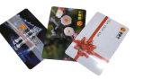 Cartão plástico padrão da lealdade do tamanho RFID com código de barras & número de série