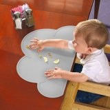 Baby Cloud Silicone Mat Non Slip e Washable Kids Placemat