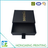 Matte Black Slide Cardboard Ring Jewelry Box