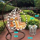 둥근 등나무 (J809)를 가진 현대 여가 고리 버들 세공 안뜰 가구 거는 의자