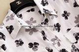 Camicia stampata della seta di gelso delle donne di Whirt