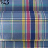 셔츠 복장 Rls32-9를 위한 폴리에스테 또는 면 T/C에 의하여 길쌈되는 털실에 의하여 염색되는 직물