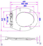 Neuer Entwurf leichter naher Duroplast Toiletten-Sitz