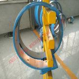 Câmara de ar espiral que dá forma à máquina para o trabalho de alumínio da tubulação do duto da placa