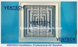 HVAC Difusor de teto de alumínio 4 vias / difusor de ar