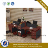 Meubles de bureau en bois de poste de travail moderne de 4 portées avec le Module (HX-NCD074A)