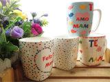 Diseño de cerámica de la taza con la dimensión de una variable del cuarteto