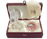 Het Vakje van de Juwelen van het document/het Vakje van de Verpakking van Juwelen met de Hete Zegel van het Embleem