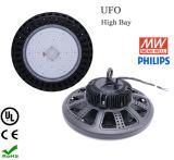 45의 60의 120 도 IP65는 UL UFO 100W LED 높은 만 램프를 방수 처리한다