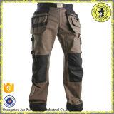 メンズ貨物ズボンを離れた頑丈な貨物ポケット作業動悸か貨物6小型のズボンまたはジッパー