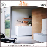 L gabinete de cozinha de madeira da mobília Home moderna do projeto do gabinete de cozinha do estilo