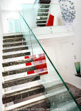 Diseño flotante de la escalera de la pisada de madera moderna