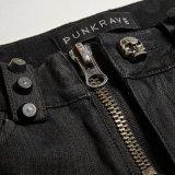 Pantaloni caldi a strisce della signora Skull Button Low Waist di K-275 Steampunk
