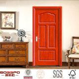 Caoba chapa MDF núcleo sólido Puertas interiores de madera (GSP6-015)