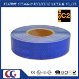 Collant r3fléchissant/bande de prisme micro imperméable à l'eau adhésif bleu de sûreté pour le véhicule