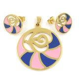 De Reeksen van de Juwelen van de Halsband van de Tegenhanger van de Oorring van het Kristal van Fashiondesign voor Vrouwen