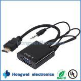 Hochauflösendes 2.0HDMI zum VGA-Adapter-Kabel mit Audios-Kabel des Mann3.5mm