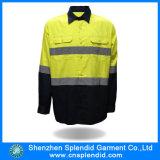 الصين بالجملة 100 قطن العمل عاكس السلامة قميص