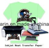 Papier de transfert thermique de jet d'encre de couleur légère de qualité