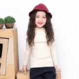 소녀 로터스 잎 고리 자라목 스웨터는 One 도덕 스웨터를 경작한다