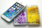 iPhone 5를 위한 3D 액정 유사 상자 6개의 액체 모래 이동 전화 덮개 케이스