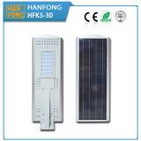 Iluminação de rua solar de Hanfong 30W com indução do corpo