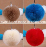 2014 New Style Faux Fox Fur Ball Keychains for Bag/Car/Home Decoration