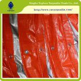 Пластичный лист брезента HDPE холстины, все виды брезента померанцового поли Tarps