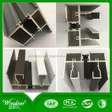 Ventana de aluminio del marco de la impresión de madera para resistente frío