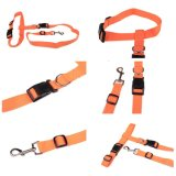 Encadenamiento ajustable de la cuerda del collar de la tracción de animal doméstico del nilón del perro del correo de la cuerda del resbalón corriente del entrenamiento