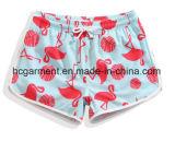 Desgaste seco da praia da tela de 4 maneiras rapidamente, Shorts da placa para mulheres/senhora