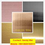 AISI 304 Blad van het Roestvrij staal van de Kleur van de Ets van de Spiegel van Ba Hairline
