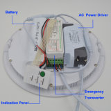 luz del panel Emergency de 18W Intellegent LED en el corte 205m m con la potencia 1.5hrs del 50%