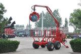 De Aanhangwagen van het Hout van de Aanhangwagen van de Lader van het Logboek ATV met Kraan