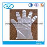 Guanto medico piegato PE di plastica a gettare di HDPE/LDPE