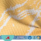 中国Rexine PUの袋のための擬似大蛇の革ファブリック