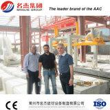 Tijolo automático que faz a planta para o processo de manufatura de pouco peso do bloco de cimento