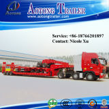 De hete Semi Aanhangwagen van het Bed van de Verkoop Lage 60-100 van de Op zwaar werk berekende Ton Aanhangwagen van de Vrachtwagen