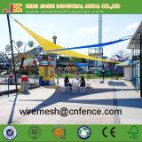 Réseau extérieur d'ombre de voile de parasol de parc d'attractions