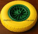 16X4.00-8 lisciano la rotella libera piana della gomma piuma dell'unità di elaborazione della carriola