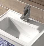 Vanità di alluminio di alluminio Titanium-Magnesium Post-Modern della stanza da bagno del Governo di stanza da bagno (T-9798)