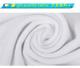 Coût de production 100% rond blanc plat en gros de T-shirt de coton de cou