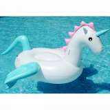 수영 반지 물 팽창식 로비 Pegasus Unicorn 수영장 장난감 부유물, 뜨 지면, 물 매트리스