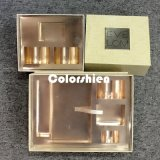 Rectángulo de regalo de oro asombroso de la visualización del embalaje de Cosmtic