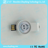 Metal Round Rote USB Flash Drive avec LED Light (ZYF1753)