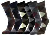 Männer `S Baumwolldiamant-Kleid-Socken
