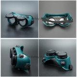 Anteojos redondos de la soldadura de la protección de la autógena de la lente (WG113)