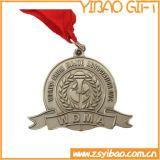 高品質の締縄(YB-m-019)が付いているカスタム金属の記念品メダル