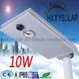 에너지 옥외 빛 통합 태양 LED 가로등 10W