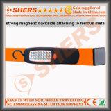 LED del trabajo de 24 Parte trasera magnética gancho de colgar
